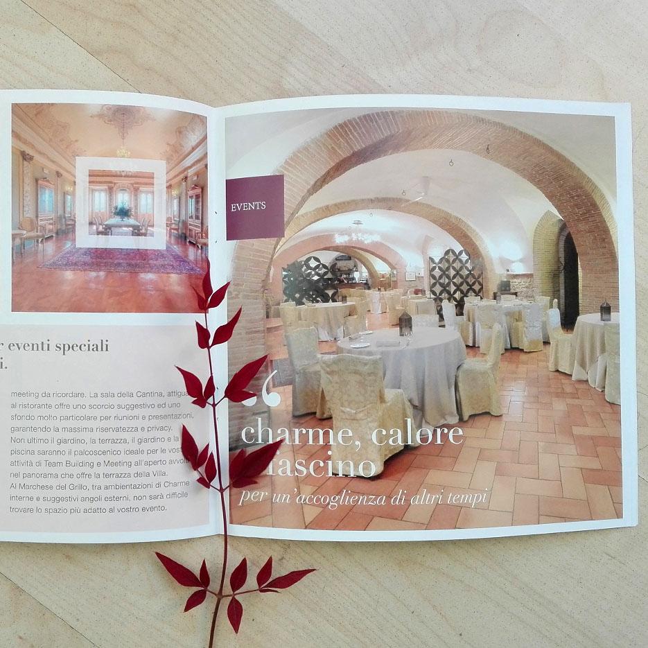 brochure aziendale hotel ristorante dedalo comunicazione visiva fabriano