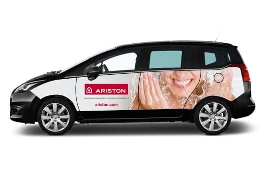 wrapping personalizzazione auto ariston dedalo fabriano
