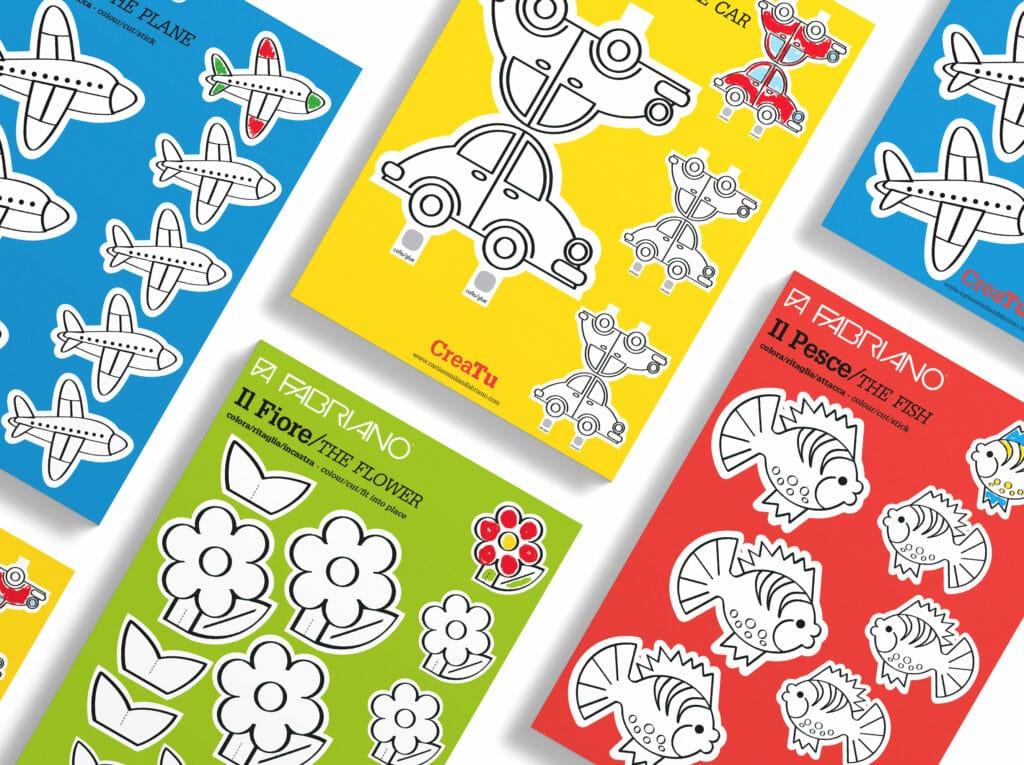 kit gioco in carta cartiere miliani fedrigoni fabriano
