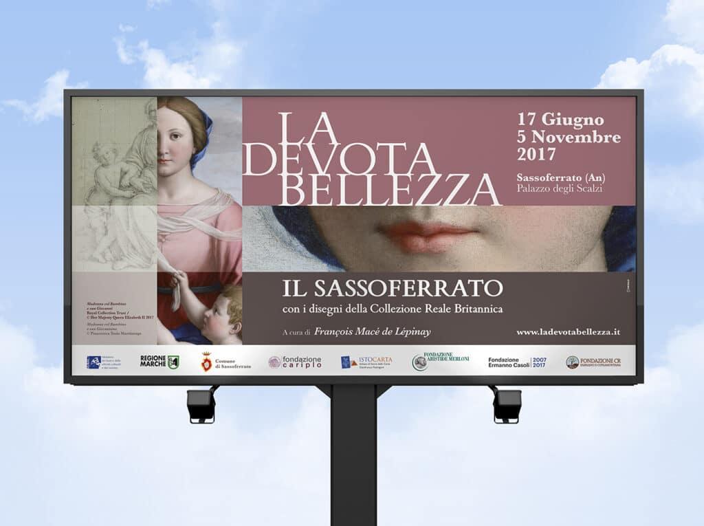 allestimento mostra la devota bellezza Fabriano manifesto 6x3