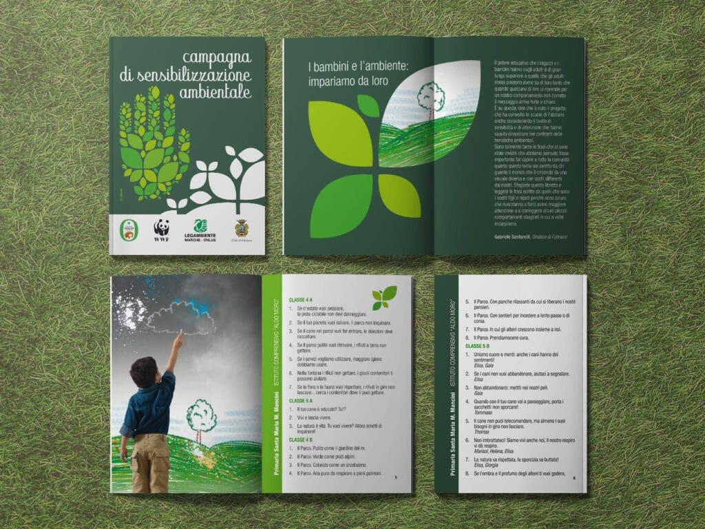 campagna sensibilizzazione ambiente grafica brochure
