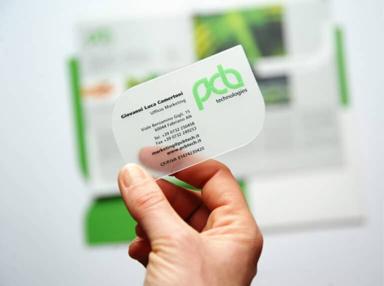 business card pvc trasparente