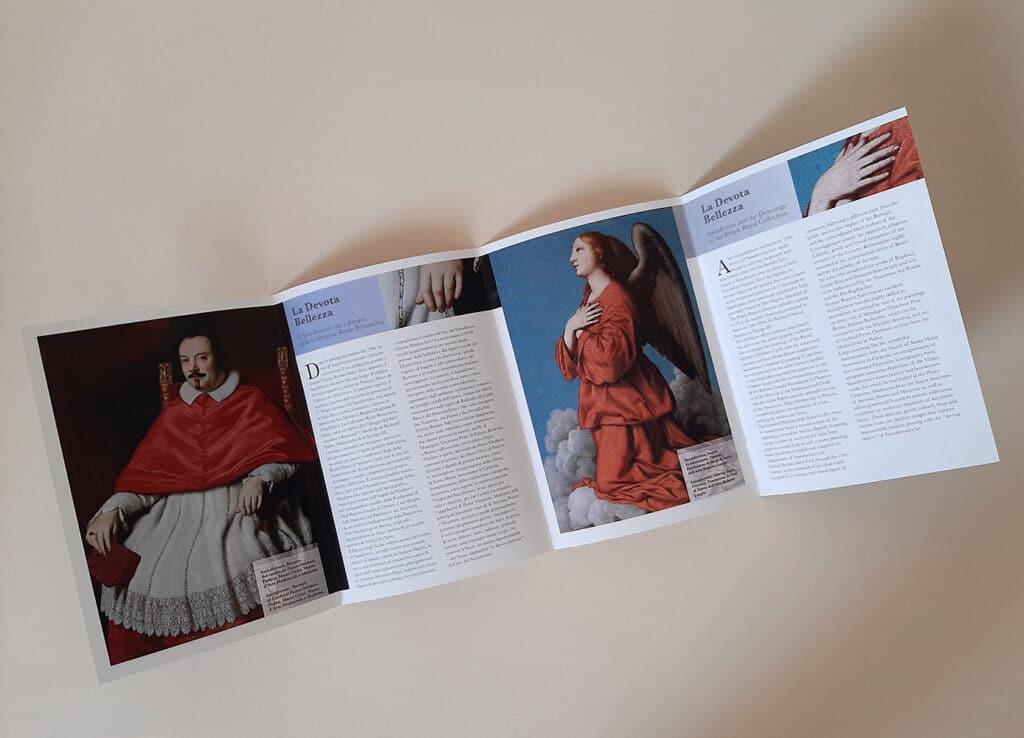 allestimento mostra la devota bellezza Fabriano brochure